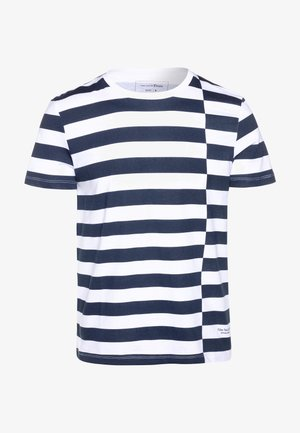 STRIPED - T-shirt imprimé - navy