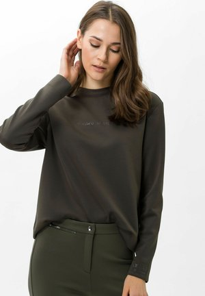 Sweatshirt - dark olive