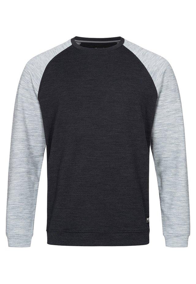 SIGNATURE CONTRAST - Sweatshirt - balck/grey