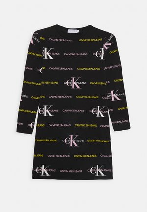 MIX LOGO DRESS - Jerseykjoler - black