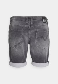 TOM TAILOR DENIM - Denim shorts - mid stone grey denim - 1