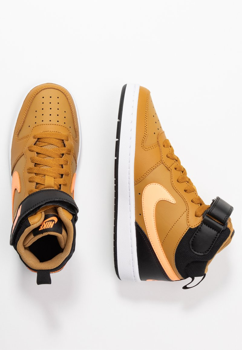 Nike Sportswear - COURT BOROUGH MID UNISEX - High-top trainers - wheat/orange pulse/black/white