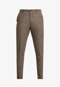 Selected Homme - SLHSLIMTAPERED FLEET PANTS - Pantalones - brownie/navy - 4
