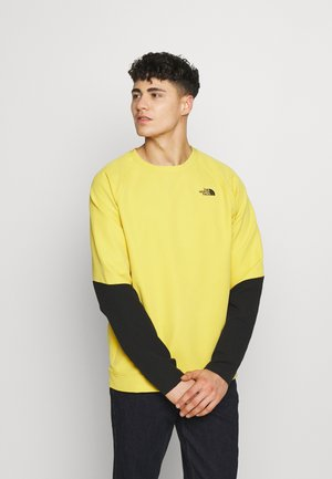 MENS TEKNO RIDGE CREW - Fleecetröja - bamboo yellow/black