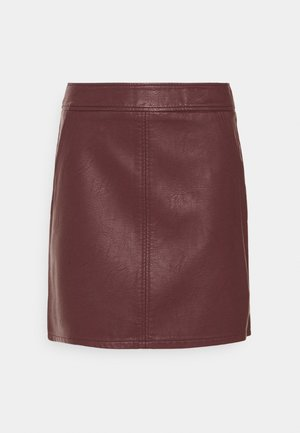 POCKET SKIRT - Mini skirt - berry