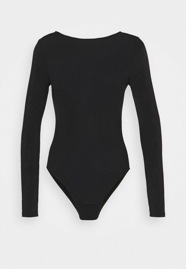 SIFFY BODY - T-shirt à manches longues - black