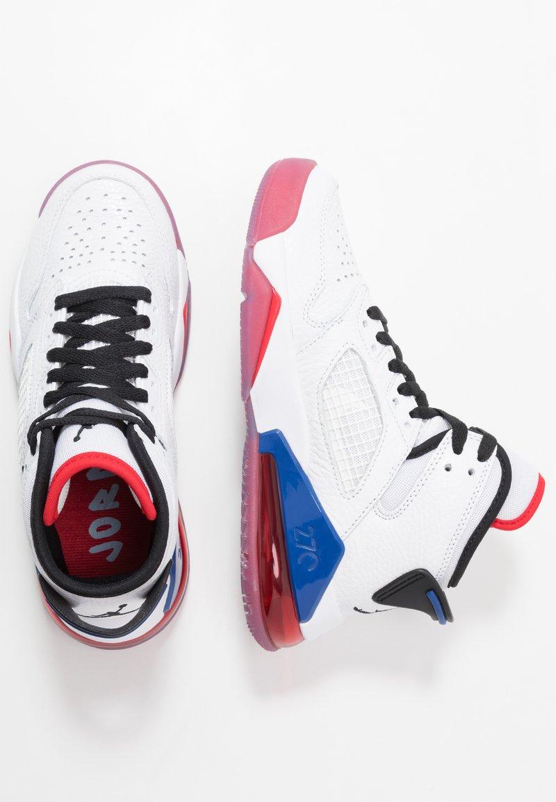 Jordan - MARS - Basketbalové boty - white/black/university red/rush blue