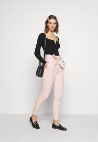 Vero Moda - VMEVA LOOSE PAPERBAG COLOR - Trousers - sepia rose - 2