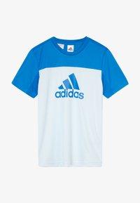 adidas Performance - TEE - T-Shirt print - lieght blue/blue - 2