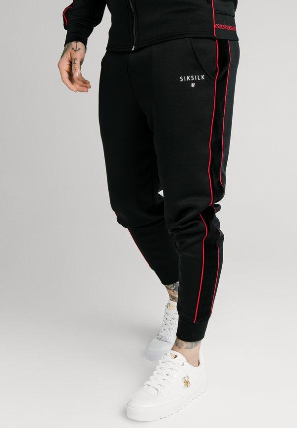 SIKSILK IMPERIAL CUFFED - Spodnie treningowe - black/czarny Odzież Męska BFDK