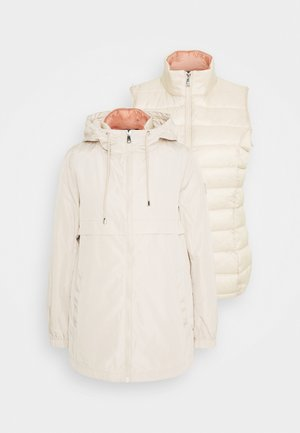 MEMORY VEST 2 IN 1 ANORAK - Short coat - beige