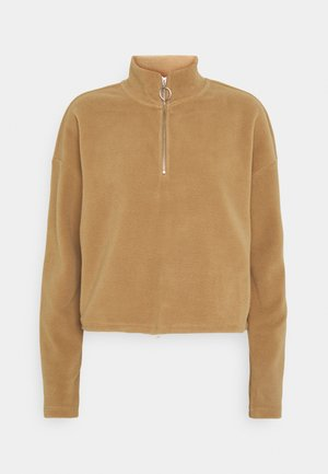 NMMISSER CROPPED NEW - Fleece jumper - tigers eye