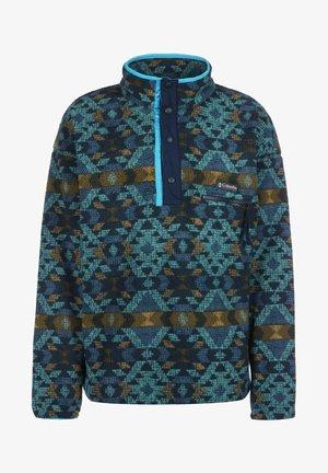 HELVETIA HALF SNAP - Fleece jumper - canyon blue blanket print