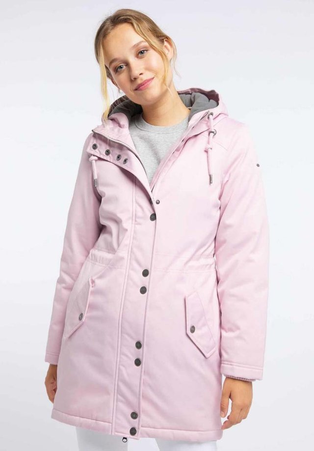 Płaszcz zimowy - puder rosa