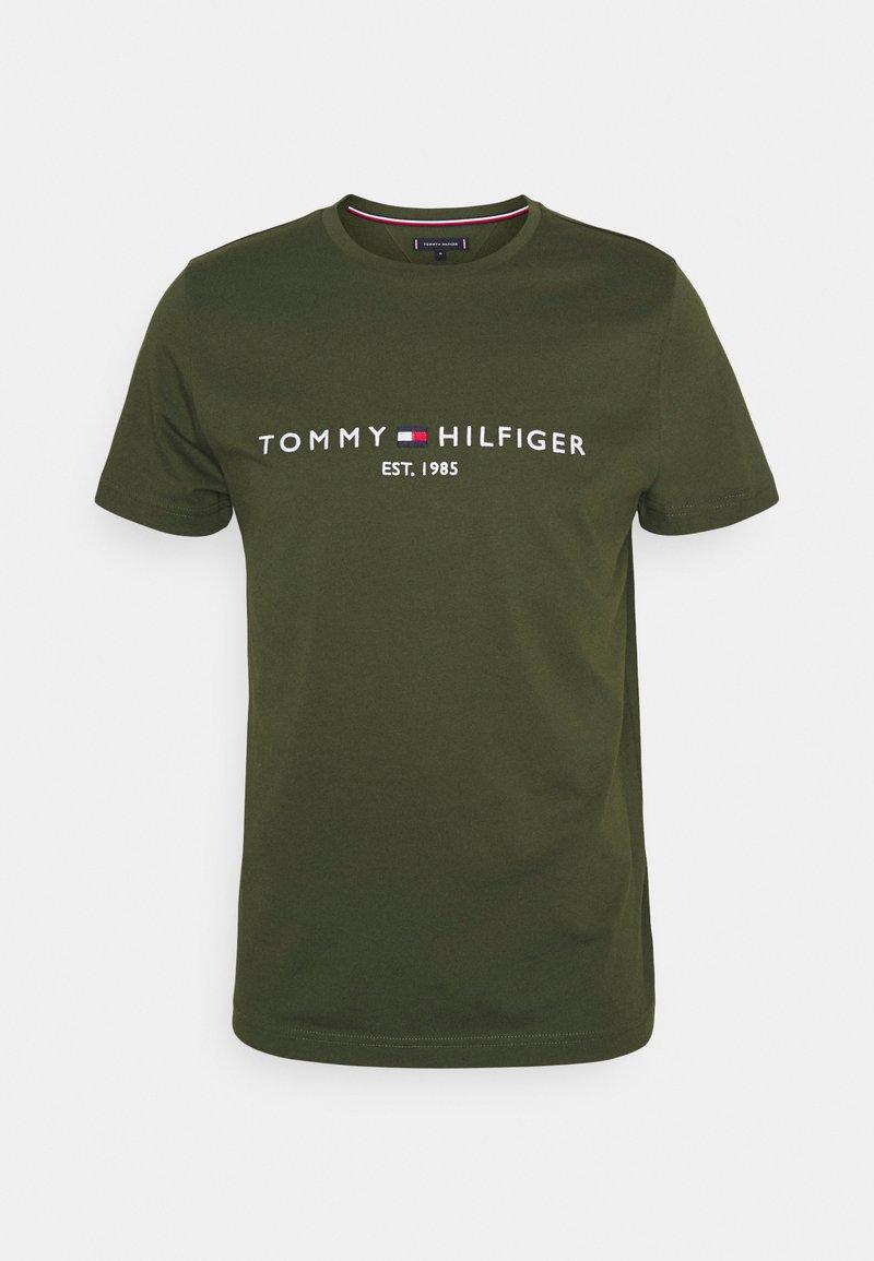 Tommy Hilfiger - LOGO TEE - Printtipaita - olivewood