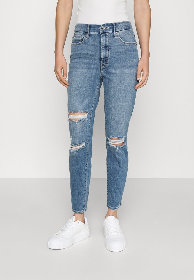 LEGS CROP - Jean slim - blue