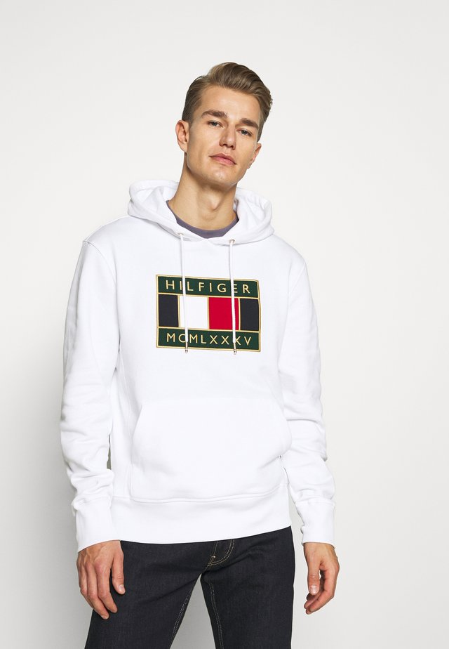 ICON BADGE HOODY - Sweat à capuche - white