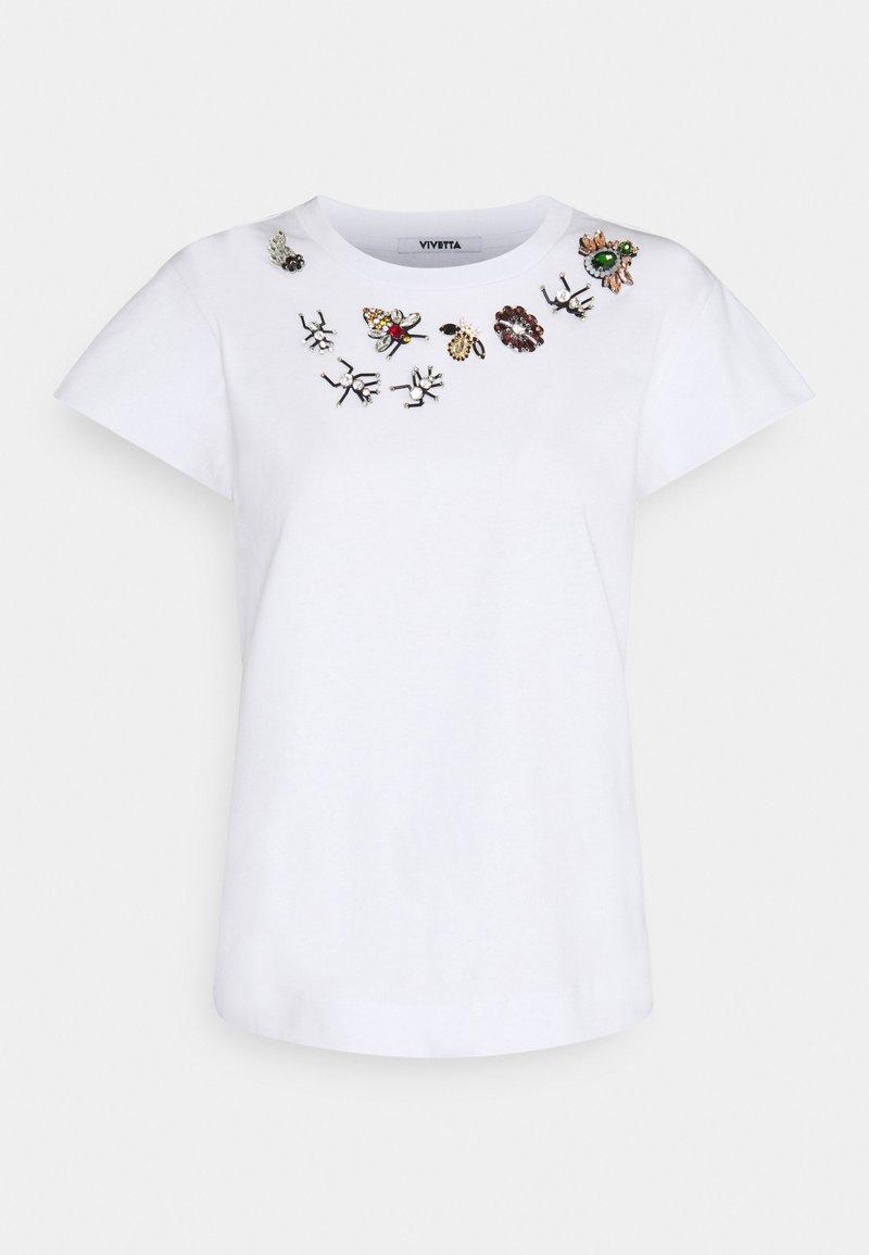 Vivetta - T-shirt z nadrukiem - bianco ottico