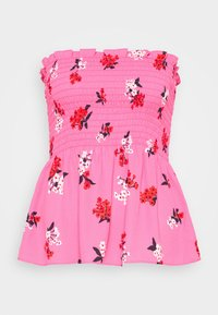Who What Wear - SMOCKED STRAPLESS - Blouse - blossom pink - 4