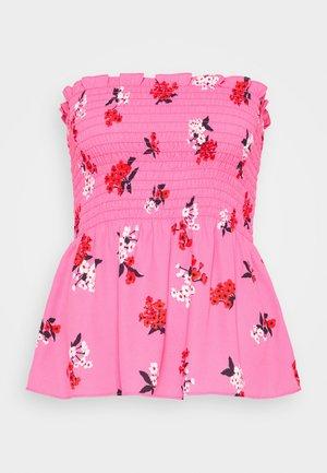 SMOCKED STRAPLESS - Blouse - blossom pink