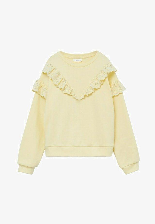 Sweater - jaune pastel