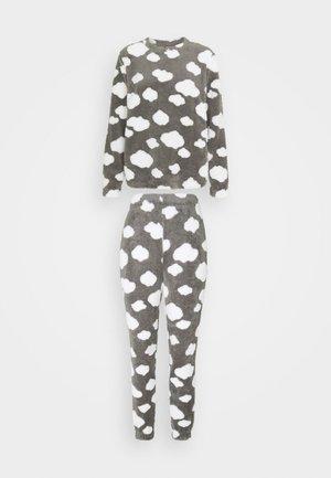 ONLCAYA NIGHTWEAR SET - Pyžamová sada - dark grey melange