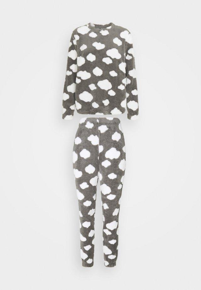 ONLCAYA NIGHTWEAR SET - Pyjama set - dark grey melange