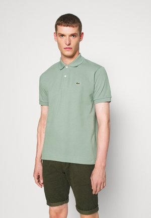 Polo shirt - light green melange