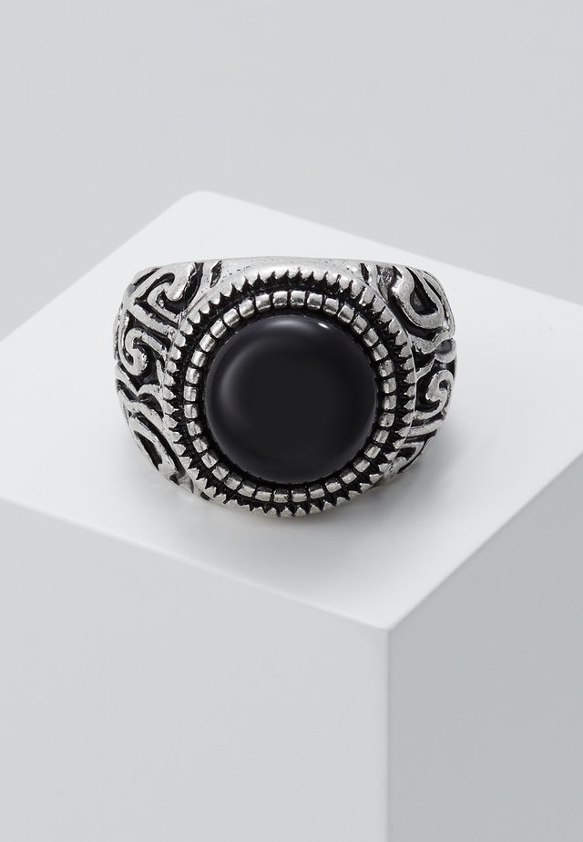 ELABORATE ROUND SIGNET - Ring - silver-coloured