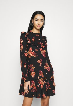 BAILEY FLORAL MINI - Kjole - black