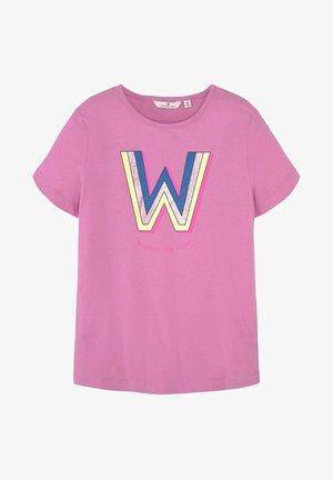 Print T-shirt - kids fuchsia pink