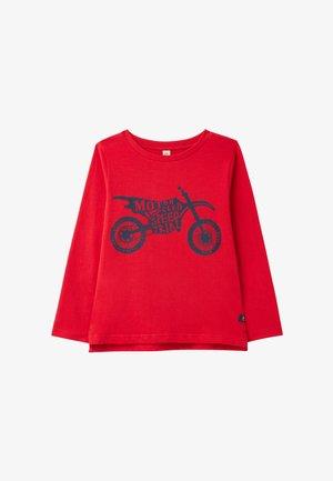 Longsleeve - rotes motorrad