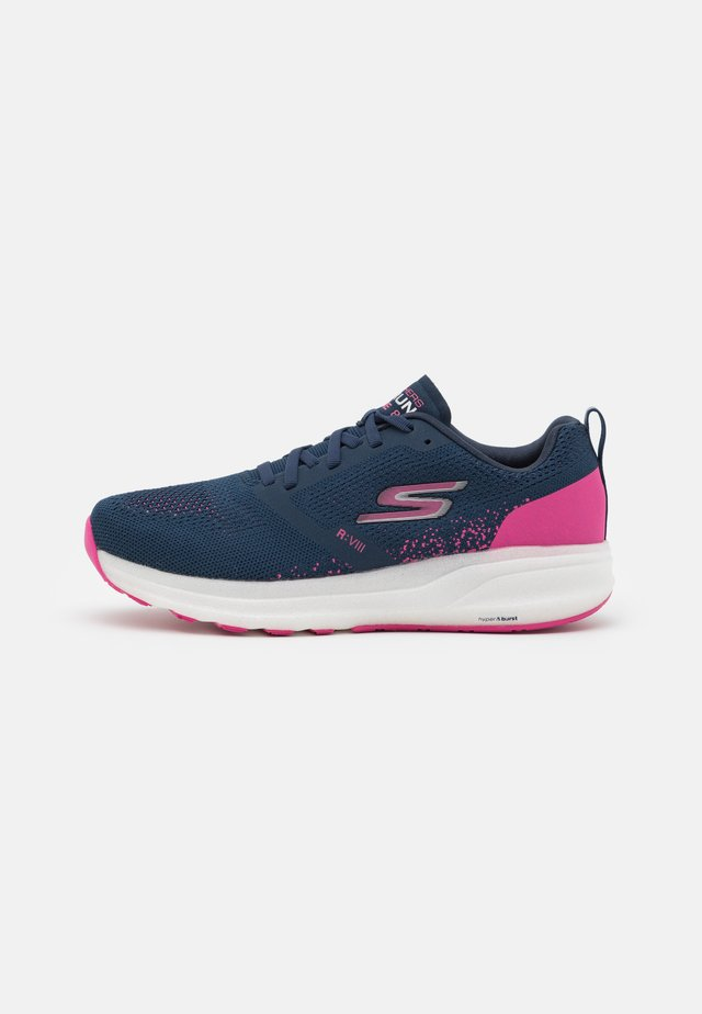 GO RUN RIDE 8 - Neutral running shoes - navy/pink