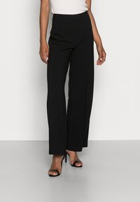 Anna Field - CLEAN WIDE LEG PANTS  - Trousers -  black - 0