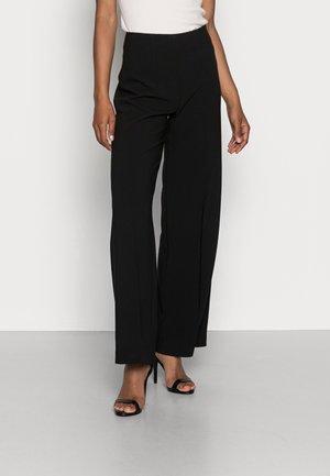 CLEAN WIDE LEG PANTS  - Bukse -  black
