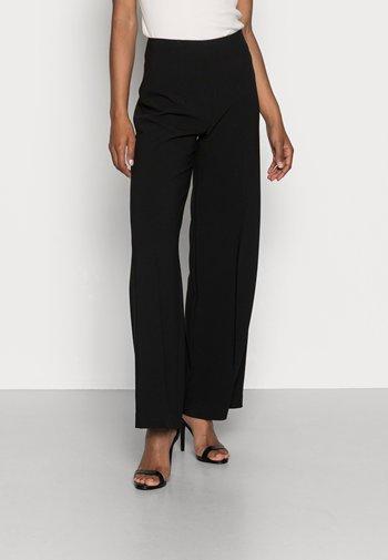 CLEAN WIDE LEG PANTS  - Pantaloni -  black