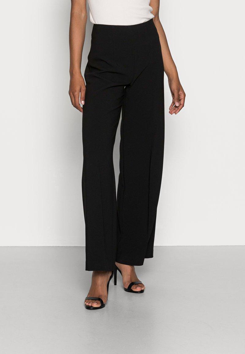 Anna Field - CLEAN WIDE LEG PANTS  - Trousers -  black