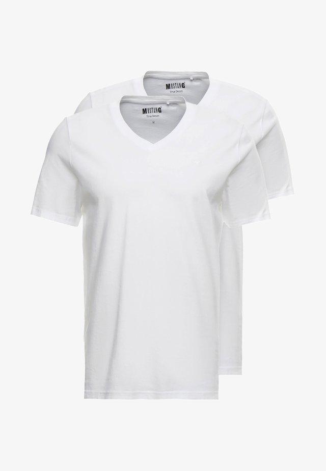 2-PACK V-NECK - T-shirts basic - general white