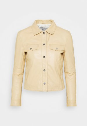 FRANKIE - Kožená bunda - beige