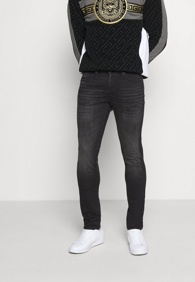 Jack & Jones - JJIGLENN JJICON  - Slim fit jeans - black denim