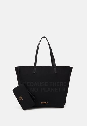 HORIZONTAL SHOPPER SET - Tote bag - black