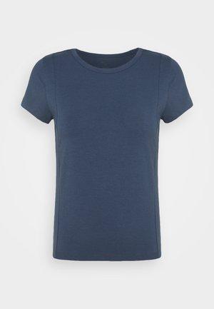PINTUCK TEE - Basic T-shirt - vintage blue
