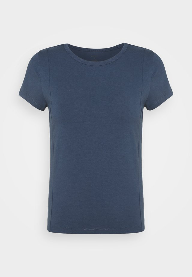 PINTUCK TEE - T-shirts - vintage blue