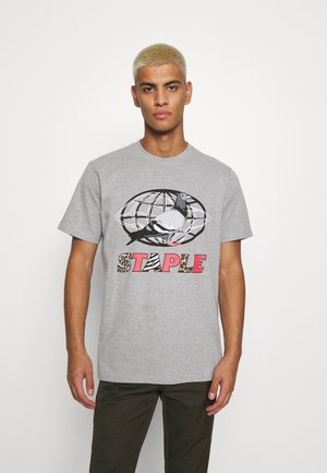 GLOBE LOGO TEE UNISEX - T-shirt con stampa - grey