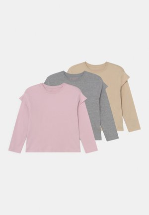 3 PACK - Long sleeved top - purple /beige/mottled grey