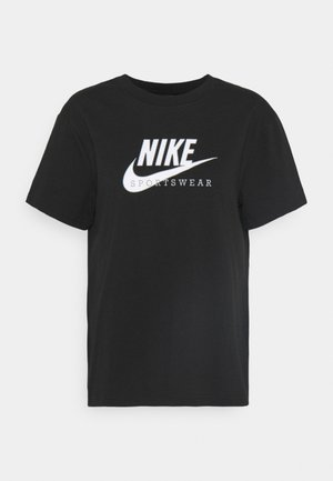 HERITAGE - Camiseta estampada - black/white/midnight navy/white