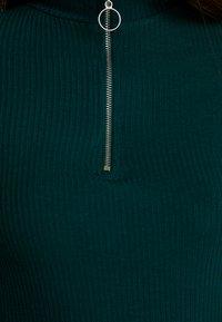 New Look - ZIP - Langærmede T-shirts - dark green - 5