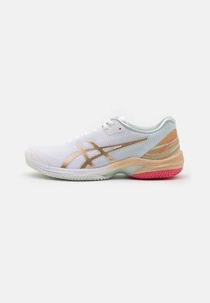 COURT SPEED FF CLAY - Clay court tennis shoes - white/champagne