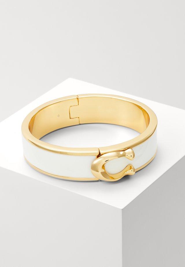 LARGE HINGED BANGLE - Bracelet - gold-coloured/chalk