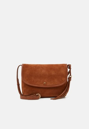 LEATHER - Across body bag - cognac